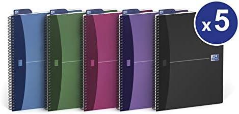 Oxford Urban mix - Pack de 5 cuadernos espiral, tapa plástico opaco, A5: Amazon.es: Oficina y papelería
