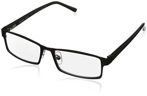 Foster Grant Sawyer Men's Multifocus Glasses, Black, 1.5