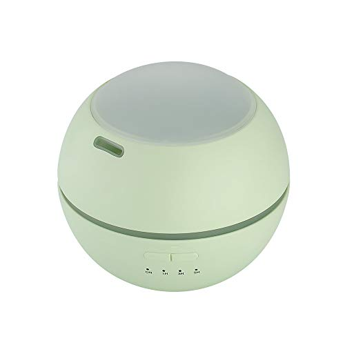 (Essential oil aromatherapy machine, USB portable ultrasonic home Projection creative atmosphere night light humidifier, suitable for bedroom study office living room yoga SPA baby room, etc.,Green)