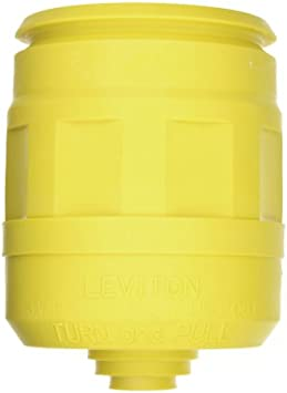 Leviton 6031 Boot for Straight//Locking Plug Weather Resistant 3-Wire Black 20 Amp and 30 Amp