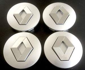 Jqlcgtmqwu 4X Renault Grey 57mm Badge Hub Caps Hub Cap Hub Caps Rim Lid Center Cap: Amazon.es: Coche y moto
