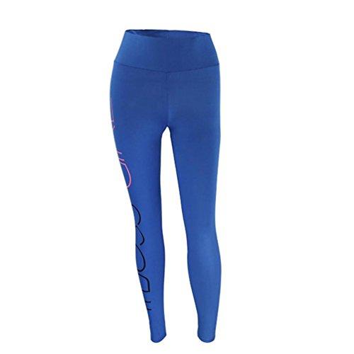 Feixiang Pantalones Yoga Mujeres, sexy elástica yoga pantalones Impresión de cartasdeportivos polainas deportes de fitness gimnasio correr pantalones ...