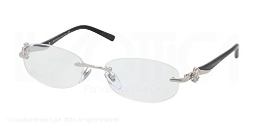 0134cbd209c Image Unavailable. Image not available for. Color  BVLGARI BV 2123K  Eyeglasses 394 Silver Plated Demo Lens 53-17-135