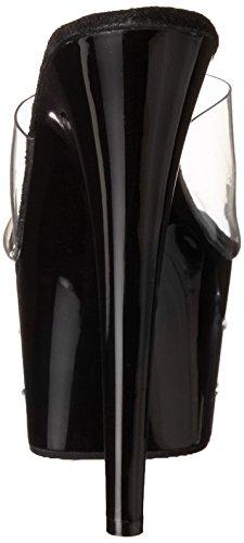 Pleaser Bout Clr Starburst Noir Femme Nero Blk Ouvert 701 Sandales OPRHqP