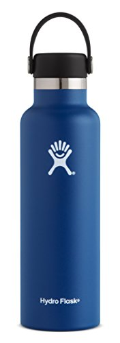 Hydro Flask 21 oz Double Wall Vacuum Insulated Stainless Steel Leak Proof Sports Water Bottle, Standard Mouth with BPA Free Flex Cap, Cobalt