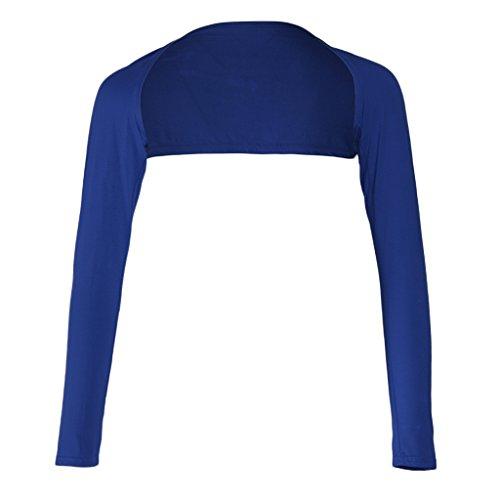 Blesiya Coprispalle Monopezzo Islamico A Maniche Lunghe Copertura Del Braccio Musulmano Shrug Bolero Hijab Blu scuro