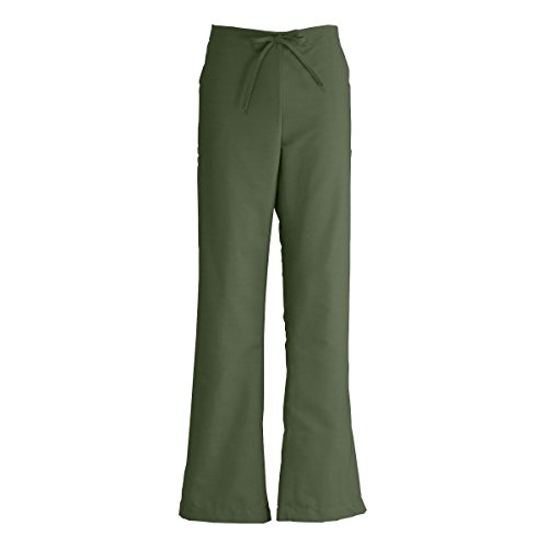 - Medline ComfortEase Ladies Modern Fit Cargo Scrub Pant, Small, Olive