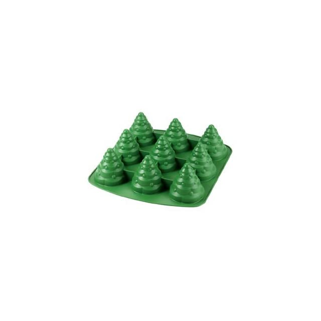 Wilton Mini Christmas Tree Cake Pan   Stand Up   Silicone Muffin Pans Kitchen & Dining