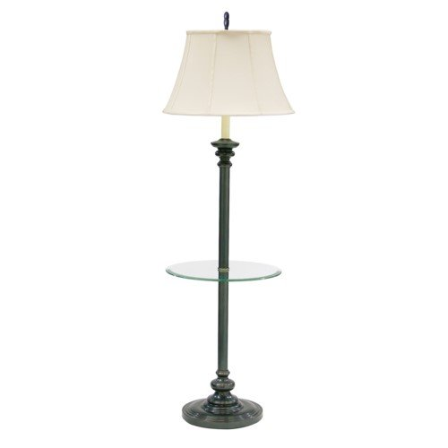 House Of Troy N602-OB Newport Collection Portable Floor Lamp with Table, Off-White Softback Shade, 55-3/4