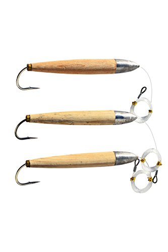 EAT MY TACKLE Fully rigged 3 pack giant cedar plugs 8
