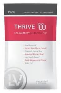 Thrive STRAWBERRY Premium Shake Mix - Single Servings 16 Per Box