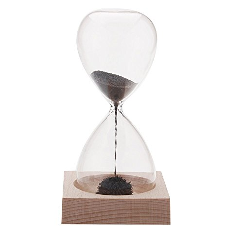 Anself Magnetic Sandglass Hand-blown Magnet Awaglass Desk Decoration (Sand Magnet)