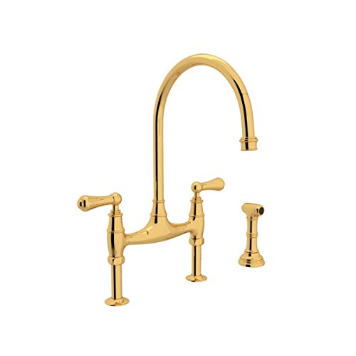 (ROHL U.4719L-EG-2 KITCHEN FAUCETS, 3.75 x 26.50 x 17.00 inches, English Gold)
