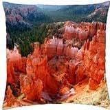 Bright Orange Canyon Rock, Arizona - Throw Pillow Cover Case (18