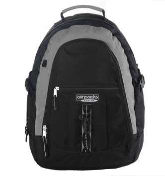 Core Products Airpacks Backpack - Medium - Black / Gray Air Pack