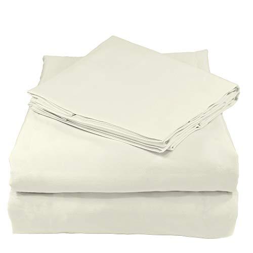 Whisper Organics 100% Organic Cotton Bed Sheet Set, 200 Thread Count, Soft Percale - GOTS Certified (Queen, Light Grey)