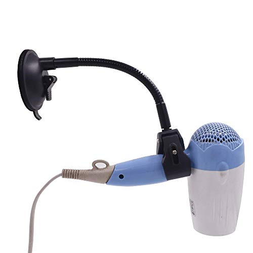 YYST Suction Cup Hands Free Hair Dryer Holder W Goose-Neck Style Cable - No Hair Dryer