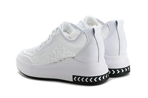 para para Zapatos Cuñas Oculto Hollow DANDANJIE Casuales Talón Zapatos Talón Deportes Blanco Correr Transpirable Mujer Zapatillas SFw5qxOH