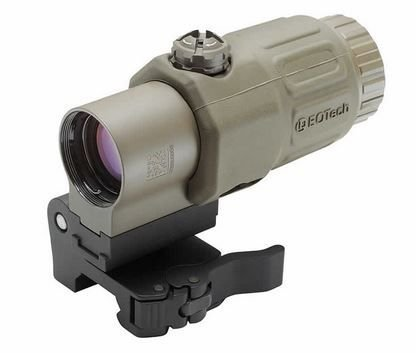 EOTech G33.STSTAN Side Mount Red Dot Sight Magnifier, Tan Matte Finish