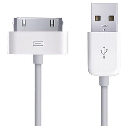 Xtra-Funky Exclusive – Xtra-Funky Exclusive 1 m largo USB cargador cable de datos para iPhone 3/4/iPod – blanco