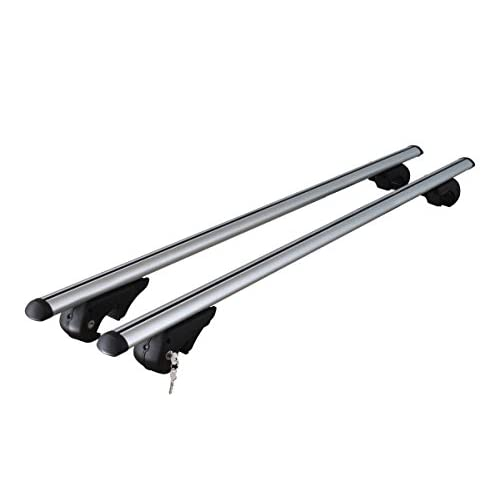 VDP Roof Rack Rails Aluminium Rio 120â for VW Tiguan 07â Onwards Roof Rack Up to 90Â kg Collaps ible high-quality