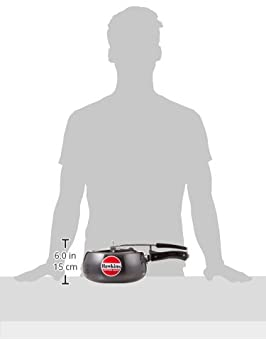 6.5-Liter Contura Black Hawkins CB65 Hard Anodised Pressure Cooker