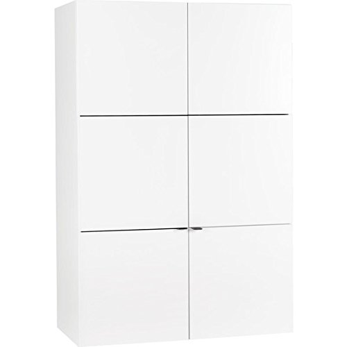 Voelkel Young Users Collection White Wood 2-door Wardobe with Drawer