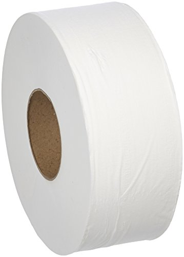 Basic Bathroom Tissue - AmazonBasics Professional Jumbo Roll Toilet Tissue for Businesses, 2-Ply, 1,000 Feet per Roll, 12 Rolls