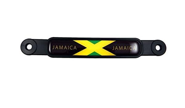 Jamaica ABS Chrome plated License Plate Frame Dome Emblem free caps