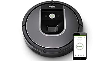iRobot Roomba 960 Vacuum Cleaning Robot Dual Mode Virtual Wall Barrier with Batteries Extra High Efficiency Filter 4 Extra Sidebrushes More