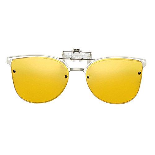 UV400 Mujer Polarizadas Reflejante Xinvision Hombre Gafas para Sol Cateye Sunglasses Amarillo Vintage Anti Eyewear Metálico Metal de Portección nXOwnv