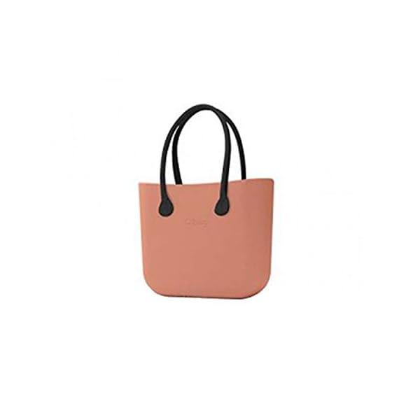 O Bag borsa grande rosa phard con manici lunghi e sacca 1