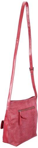 Bodenschatz Modena 4-004 MD 19, Damen Umhängetaschen, Rot (red), 31x25x8 cm (B x H x T) Rot (Red)