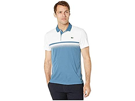 646a43bc2 Lacoste Men s Sport Short Sleeve Ultra Dry Gradient Print Polo ...