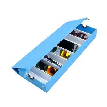 Ducomi Elton - Organizzatore per Occhiali con 8 Scomparti per Occhiali da Sole e da Vista - Espositore Porta Occhiali - Dimensioni: 48 x 18 x 6 cm (Light Blue) qYXVmO7j