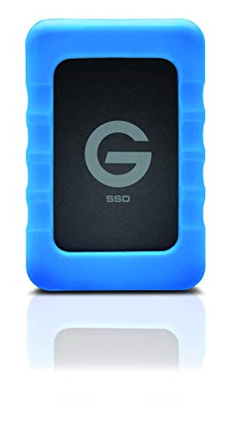 G-Technology 1TB G-DRIVE ev RaW SSD Portable External Storage with Removable Protective Rubber Bumper - USB 3.0 - 0G04759 ()