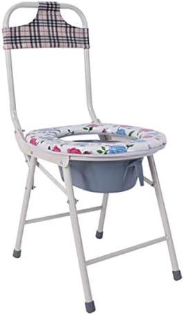 介護用ポータブルトイレ椅子 ポータブル 折りたたみ トイレ チェア 高強度 ステンレ ベッドサイド 便座の 椅子は トイレ、シャワースツールチェア大人のモバイルノンスリップ風呂の