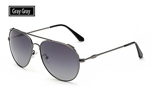 grey de mujeres gris de gafas oro grey sol sol UV400 aire Sunglasses libre hombres Gafas polarizadas pesca de deportivas al TL guía gafas qCAw1y