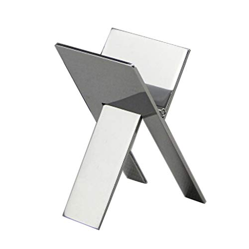 (Stainless Foldable Ashtray Cigarette Cigar Stand Holder Tools (Silver))