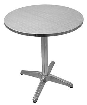 Amazon De Aluminium Bistro Tisch Biertisch Gartentisch Rund Hohe