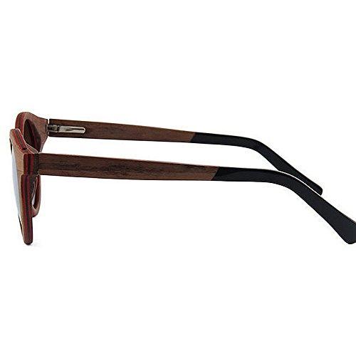 lunettes lunettes qualité de protection soleil de Lunettes de polarisées soleil de la de UV la main bois à conduite UV haute de de soleil lunettes à Couleur Vert main soleil Marron en de plage de de 6wHzU6