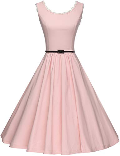 GownTown Women's 1950's Vintage Picnic Swing Dresses Pink]()