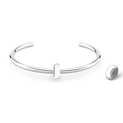 """Glamulet Basic """"C"""" Bangle 925 Sterling Silver Cuff Charms Bracelets For Women"""