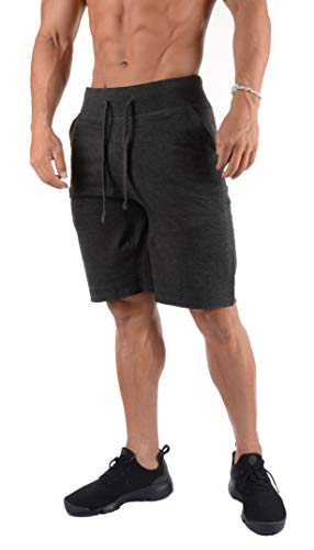 2814ebebeed0e YoungLA Slim Fit Lounge Shorts for Men with Pockets Basketball Workout  Athletic 120 Charcoal Medium