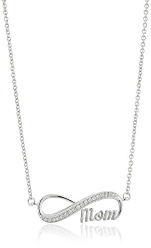 Sterling Zirconia Infinity Sisters Necklace
