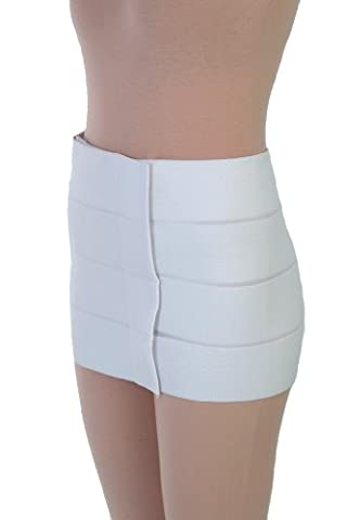 Post Op Tummy Tuck Compression garments - Liposuction Surgery Recovery Abdominal Binder | ContourMD : Style 13 (12in - Large - Fits 60in to (Post Tummy Tuck)