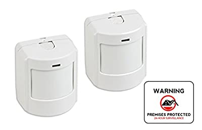 Interlogix GE Indoor Wireless Pet Immune SAW PIR Detector - 2-pack plus Bonus 4 inch Security Sticker
