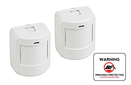 Interlogix GE Indoor Wireless Pet Immune SAW PIR Detector - 2-pack plus Bonus 4 inch Security Sticker Wireless Pet Immune Detector