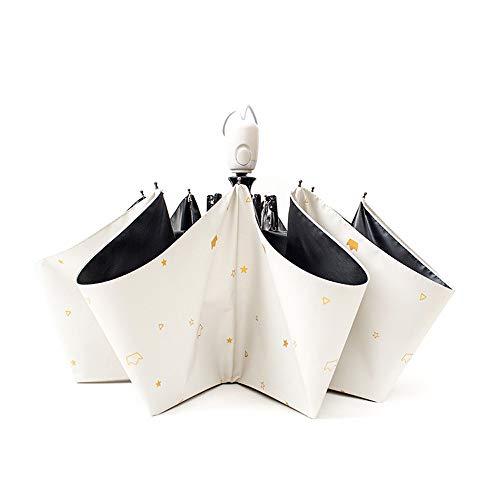 Z.L.FFLZ Umbrellas Rain Guard Windproof Umbrella Bundle Auto Open Shut Dupont Teflon-Coated Lightweight Anti UV Durable (Color : White, Size : Free)