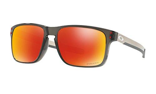 Oakley Holbrook Mix Sunglasses Grey Smoke with Prizm Ruby Polarized Lens + - Holbrook Polarized Oakley Ruby